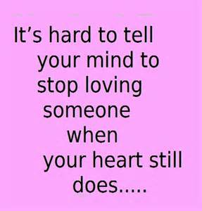 hard to stop loving