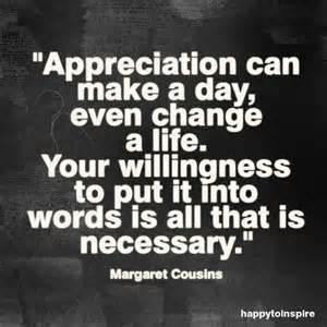 appreciation,