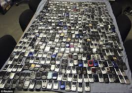 cxonfiscated cell phones in prison