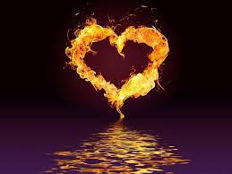 burning heart flame