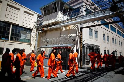 black prisoners at San Quentin