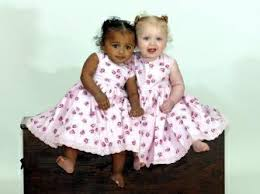 mixed race twins