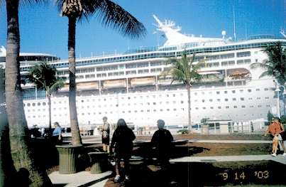 cruise ship in Key West