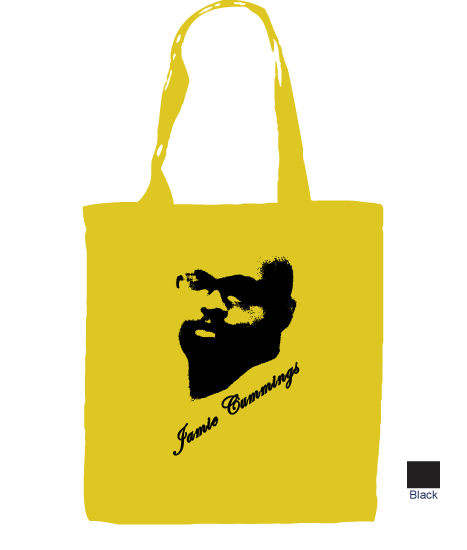 tote bag with Jamie's picture