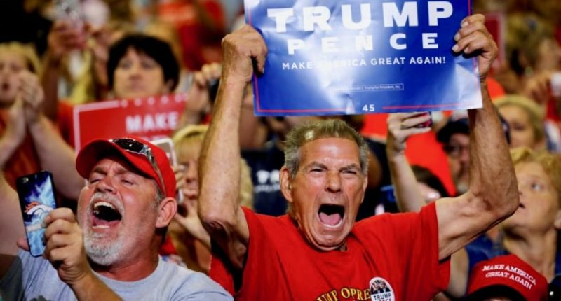 Angry Trump supporters